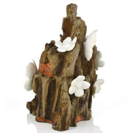 Декорация для аквариума biOrb Flower, пень с цветами, 12х9х14см