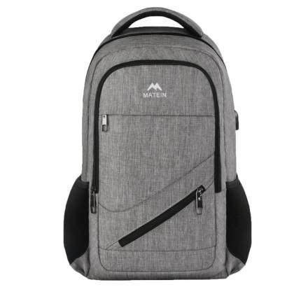 """Рюкзак для ноутбука Big Matein NTE, 17"""", серый"""