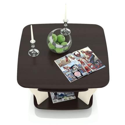Стол журнальный Гранд-Кволити 6-0210 венге/вяз светлый, 77х77х50 см.