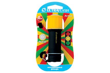 Туристический фонарь Ultraflash LED15001-B черный/желтый, 1 режим