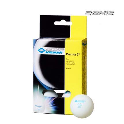 Мячи для настольного тенниса Donic Prestige 2 белые, 6 шт.