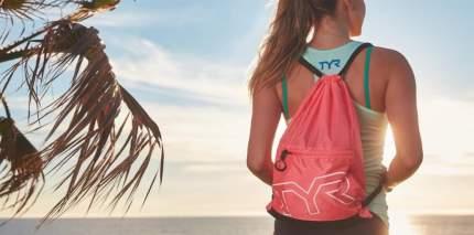 Рюкзак-мешок TYR Drawstring Backpack 13 л красный (610)