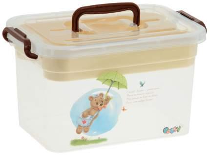 Ящик для игрушек ПолимерБыт Polly с вкладышем 6,5 л
