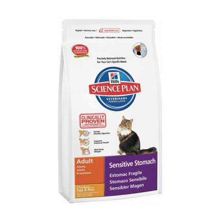 Сухой корм для кошек Hill's Science Plan Sensitive Stomach, курица, 1,5кг