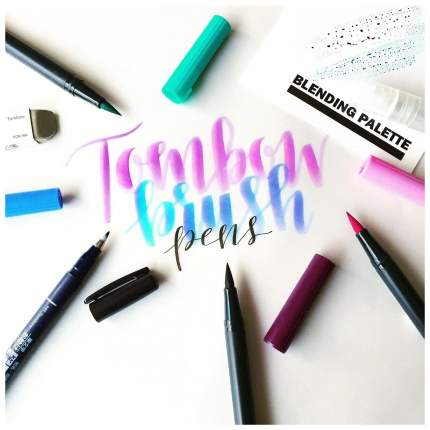 """Брашпен (маркер-кисть) Tombow """"ABT Dual Brush Pen"""", цвет: N15 черный"""