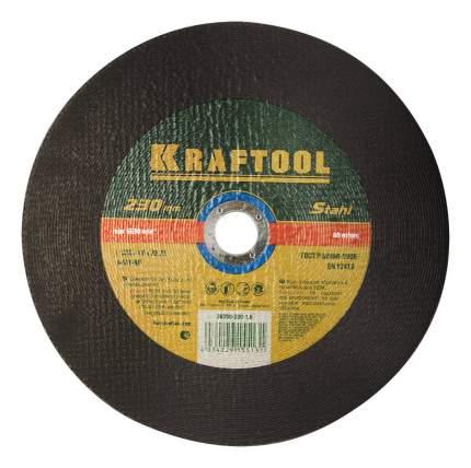 Отрезной диск по металлу для угловых шлифмашин Kraftool 36250-230-1.6