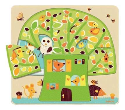 Пазл Djeco трехслойный дом-дерево