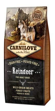 Сухой корм для собак Carnilove For Adult Dogs, северный олень, 12кг