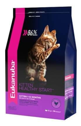 Сухой корм для котят Eukanuba Kitten Healthy Start, курица, 2кг