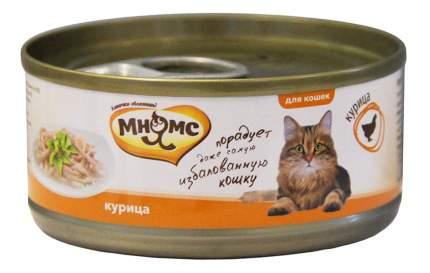 Консервы для кошек Мнямс, курица, 70г