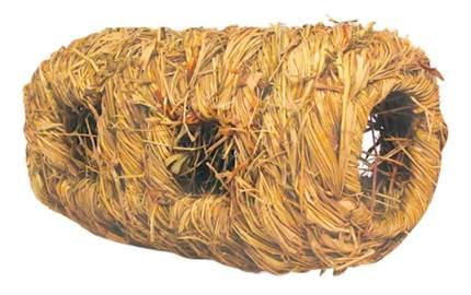 Домик для грызуна Triol стебли и травы, 9.5х9.5х17см, цвет коричневый, бежевый