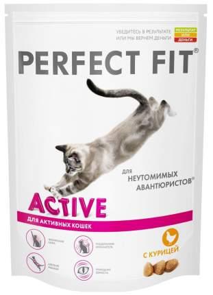 Сухой корм для кошек Perfect Fit Active, для активных, курица, 0,65кг