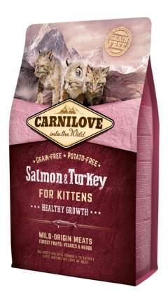 Сухой корм для котят Carnilove Fresh meat, лосось, индейка, 6кг
