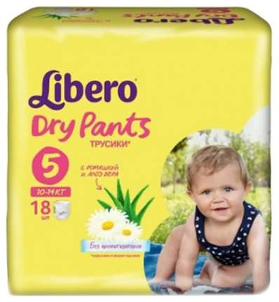 Подгузники-трусики Libero Dry Pants Maxi Plus 5 (10-14 кг), 18 шт.