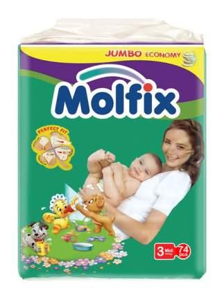 Подгузники Molfix Dry & Soft Midi 3 (4-9 кг), 74 шт.