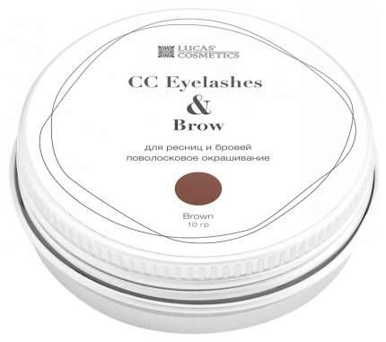 Хна для бровей LUCAS' COSMETICS CC Eyelashes & Brow Brown баночка 10 гр