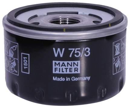 Фильтр масляный двигателя MANN-FILTER W75/3