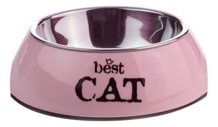 Одинарная миска для кошек Beeztees, сталь, фиолетовый, 0.16 л