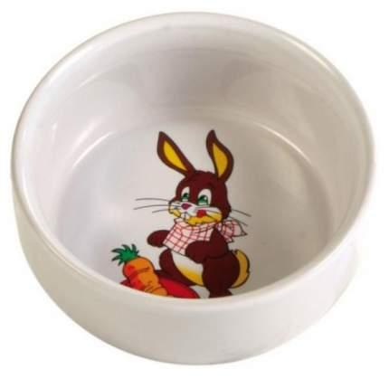 Одинарная миска для кролика TRIXIE, керамика, белый, 0.3 л