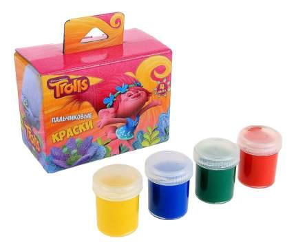 Пальчиковые краски Centrum Тролли 4 цвета