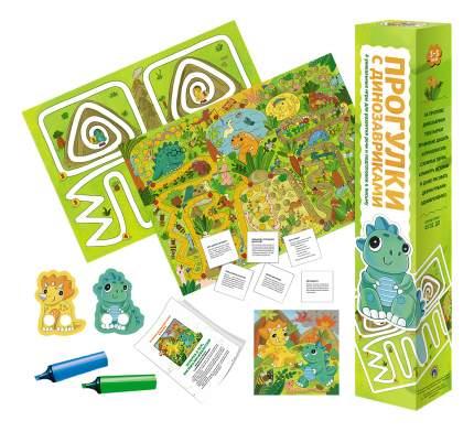 Семейная настольная игра Маленький гений Прогулки с динозавриками