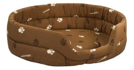 Лежанка для кошек и собак Дарэлл 60x75x18см коричневый