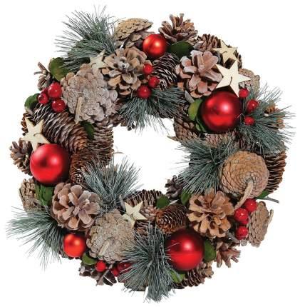 Венок новогодний Kuchenland Красные шарики 33 см