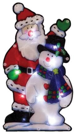 Световое панно ВОЛШЕБНАЯ СТРАНА Дед мороз и снеговик 986105