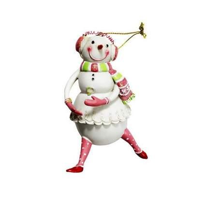 Елочная игрушка Снеговик - Девочка 6.5*5*10 см, подвеска 3D1117