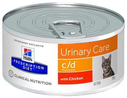 Консервы для кошек Hill's Prescription Diet c/d Urinary Care, курица, 156г