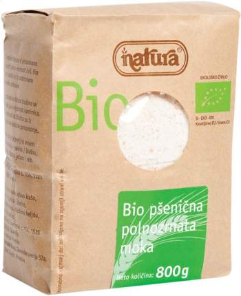 Мука пшеничная Natura цельнозерновая органическая 800 г