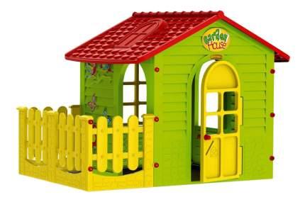 Игровой домик MOCHTOYS Садовый с забором