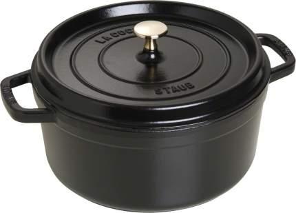 Staub Кокот круглый, 26 см (4.6 л), черный