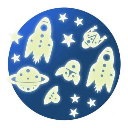 Набор светящихся наклеек на стену Космос Djeco DD04591