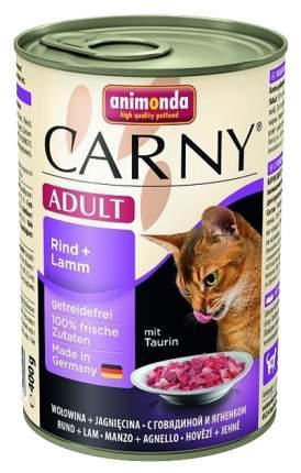 Консервы для кошек Animonda Carny Adult, говядина, ягненок, 6шт, 400г