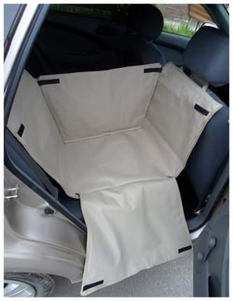 Автогамак для перевозки собак с мягкой защитой дверей на 1/3 сиденья (бежевый)