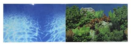 Фон для аквариума Prime Синее море/Растительный пейзаж 60х150см