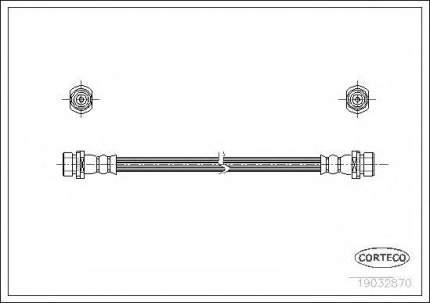 Шланг тормозной Corteco 19032870