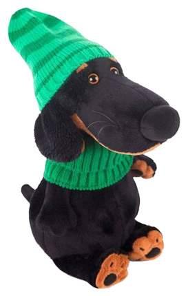 Мягкая игрушка BUDI BASA Собака Ваксон в зеленой шапке и шарфе Басик и компания 25 см