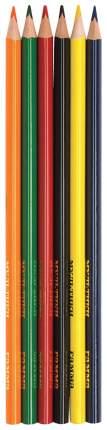 Карандаши цветные Гамма Мультики 6 цветов