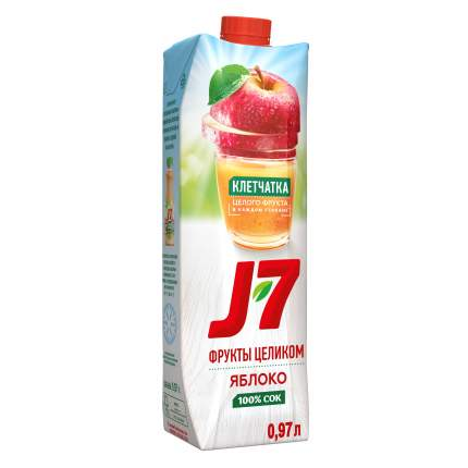 Сок яблоко J7 с мякотью фрукты целиком 0.97 л