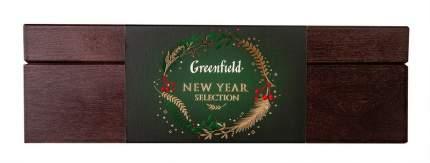 Набор Greenfield коллекция чая и чайного напитка в подарочной деревянной шкатулке 32 штук