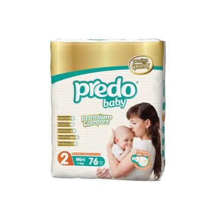 Подгузники для новорожденных Predo Baby Mini №2 Гигантская пачка 76 шт. 3-6 кг