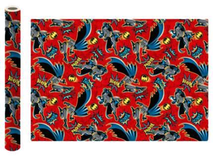 "Упаковочная бумага ""Batman"", 70х100 см, 2 штуки в рулоне (красная)"