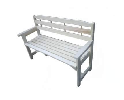 Садовая скамейка СМКА БМ050Б БМ051Б Осина 1300 мм белый