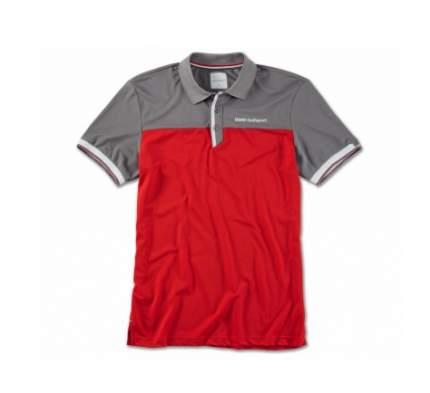 Мужская рубашка-поло BMW 80142460943 Red/Grey/White