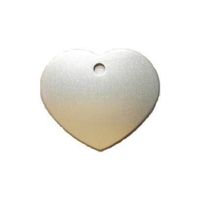Адресник на ошейник для собак BestforPet, в форме сердца, серебристый, 3,2см