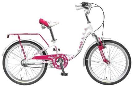 """Велосипед Novatrack """"Butterfly"""" (цвет: белый/розовый, 20"""")"""