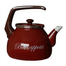 Чайник для плиты Interos Бордо 3,0л эмалированный с кр.