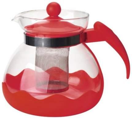 Чайник заварочный MALLONY Decotto-1500 с пластик ручкой, фильтр из нерж ст, 1,5 л